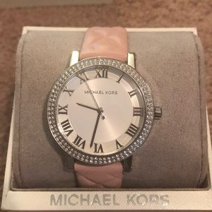Michael Kors leather band watch